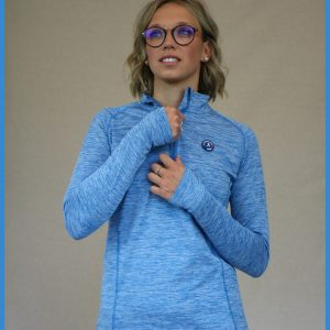 haut demi-zip boston de la gamme running femme de la french run