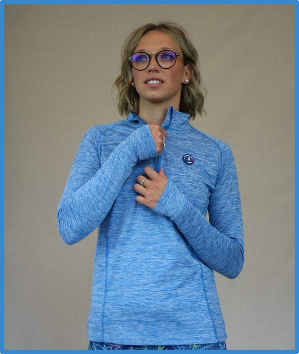 haut demi-zip boston de la gamme running femme de la french run